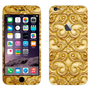 Виниловая наклейка «Золотая роспись» на телефон Apple iPhone 6 Plus/6S Plus
