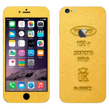 Виниловая наклейка «Золото высшей пробы» на телефон Apple iPhone 6 Plus/6S Plus