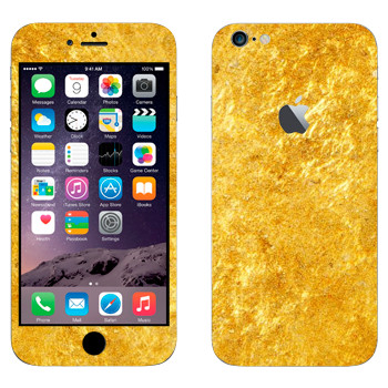 Виниловая наклейка «Золото» на телефон Apple iPhone 6 Plus/6S Plus