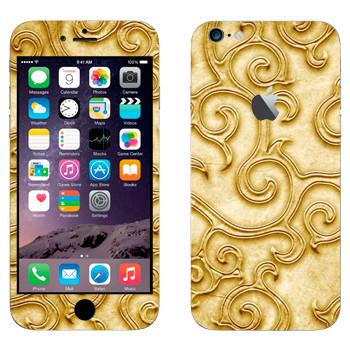 Виниловая наклейка «Золотой узор» на телефон Apple iPhone 6 Plus/6S Plus