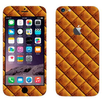 Виниловая наклейка «Золотые клеточки» на телефон Apple iPhone 6 Plus/6S Plus