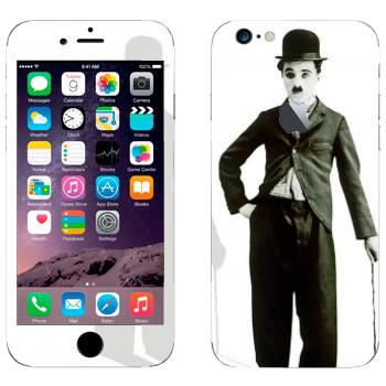 Виниловая наклейка «Чарли Чаплин» на телефон Apple iPhone 6/6S