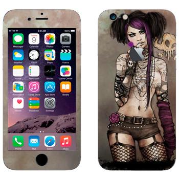 Виниловая наклейка «Девушка - гранж» на телефон Apple iPhone 6/6S