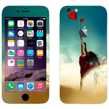 Виниловая наклейка «Девушка-танцор с шариком» на телефон Apple iPhone 6/6S