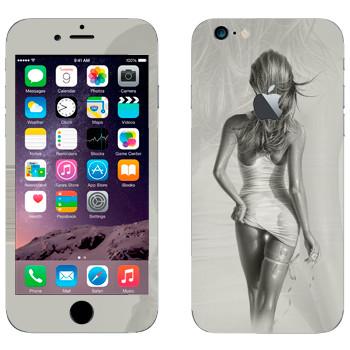 Виниловая наклейка «Девушка в мокром платье» на телефон Apple iPhone 6/6S