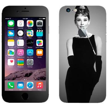 Виниловая наклейка «Одри Хепбёрн» на телефон Apple iPhone 6/6S