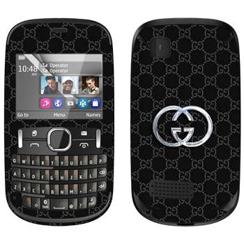 Виниловая наклейка «Gucci» на телефон Nokia Asha 200