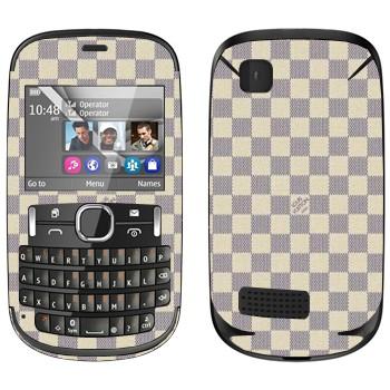 Виниловая наклейка «LV Damier Azur белый» на телефон Nokia Asha 200