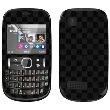 Виниловая наклейка «LV Damier Azur черный» на телефон Nokia Asha 200