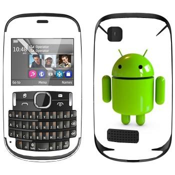 Виниловая наклейка «Логотип Android в 3D» на телефон Nokia Asha 200