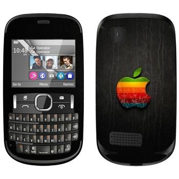 Виниловая наклейка «Логотип Apple радужное яблоко» на телефон Nokia Asha 200