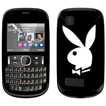 Виниловая наклейка «Логотип Playboy» на телефон Nokia Asha 200