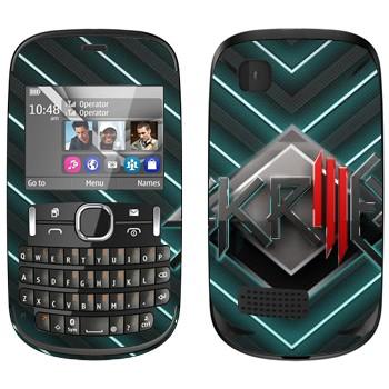 Виниловая наклейка «Skrillex логотип» на телефон Nokia Asha 200