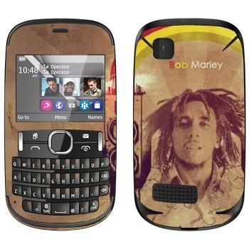 Виниловая наклейка «Боб Марлей» на телефон Nokia Asha 200