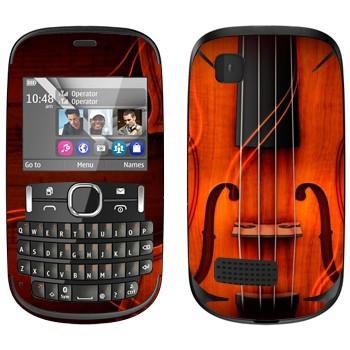 Виниловая наклейка «Скрипка» на телефон Nokia Asha 200