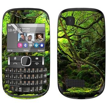 Виниловая наклейка «Лес во мху» на телефон Nokia Asha 200