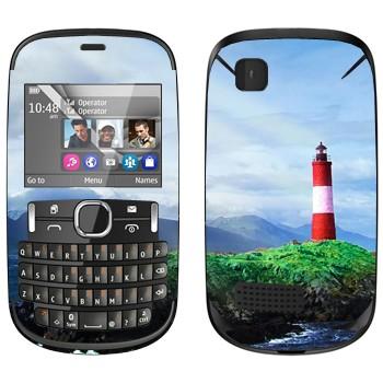 Виниловая наклейка «Маяк на скале» на телефон Nokia Asha 200