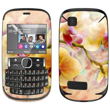 Виниловая наклейка «Орхидея» на телефон Nokia Asha 200