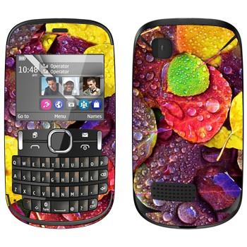 Виниловая наклейка «Осенние листья» на телефон Nokia Asha 200