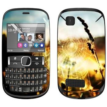 Виниловая наклейка «Паутина» на телефон Nokia Asha 200