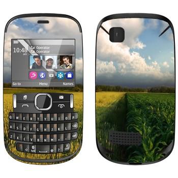 Виниловая наклейка «Поле кукурузы и небо» на телефон Nokia Asha 200