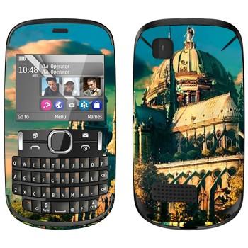 Виниловая наклейка «Сказочный замок» на телефон Nokia Asha 200