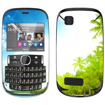 Виниловая наклейка «Тропический пляж» на телефон Nokia Asha 200