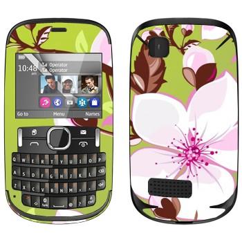 Виниловая наклейка «Цветет вишня» на телефон Nokia Asha 200