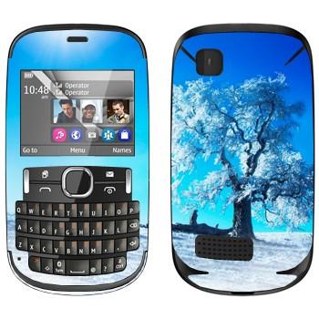 Виниловая наклейка «Зимнее дерево» на телефон Nokia Asha 200