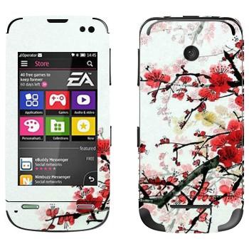 Виниловая наклейка «Цветущая сакура» на телефон Nokia Asha 311