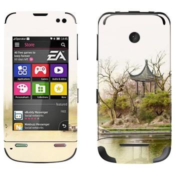 Виниловая наклейка «Китайская беседка у озера» на телефон Nokia Asha 311
