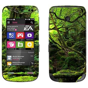 Виниловая наклейка «Лес во мху» на телефон Nokia Asha 311