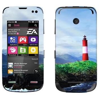 Виниловая наклейка «Маяк на скале» на телефон Nokia Asha 311