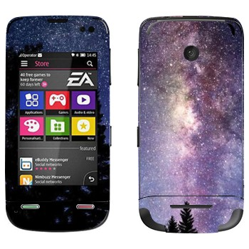 Виниловая наклейка «Млечный Путь - вид с Земли» на телефон Nokia Asha 311