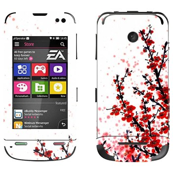 Виниловая наклейка «Сакура  цветет» на телефон Nokia Asha 311