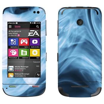 Виниловая наклейка «Синий дым» на телефон Nokia Asha 311