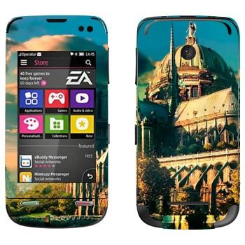 Виниловая наклейка «Сказочный замок» на телефон Nokia Asha 311