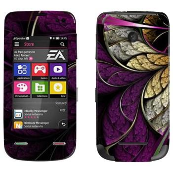 Виниловая наклейка «Цветок фиолетовый» на телефон Nokia Asha 311