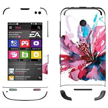 Виниловая наклейка «Цветок нарисованный акварелью» на телефон Nokia Asha 311