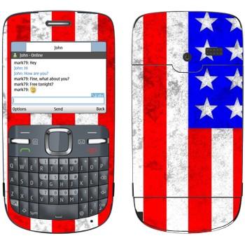 Виниловая наклейка «Флаг Америки» на телефон Nokia C3-00