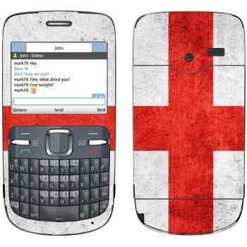 Виниловая наклейка «Флаг Англии» на телефон Nokia C3-00