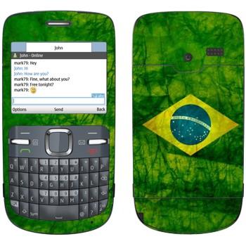 Виниловая наклейка «Флаг Бразилии» на телефон Nokia C3-00