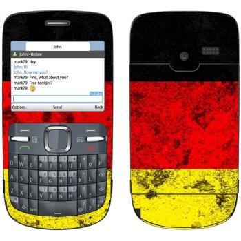 Виниловая наклейка «Флаг Германии» на телефон Nokia C3-00