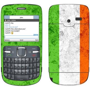 Виниловая наклейка «Флаг Ирландии» на телефон Nokia C3-00