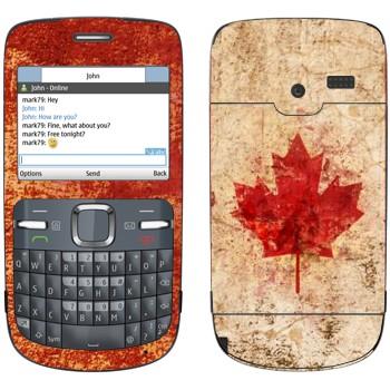 Виниловая наклейка «Флаг Канады гранж» на телефон Nokia C3-00