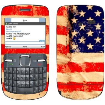 Виниловая наклейка «Флаг Соединенных Штатов Америки» на телефон Nokia C3-00