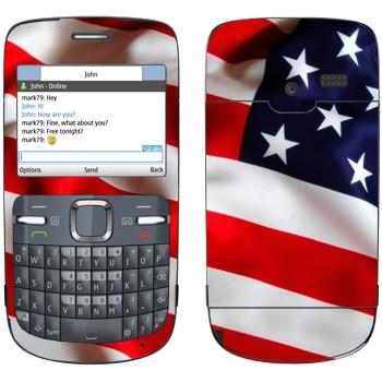 Виниловая наклейка «Флаг США» на телефон Nokia C3-00