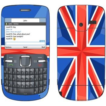 Виниловая наклейка «Флаг Великобритании» на телефон Nokia C3-00