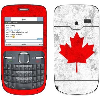 Виниловая наклейка «Канада флаг» на телефон Nokia C3-00