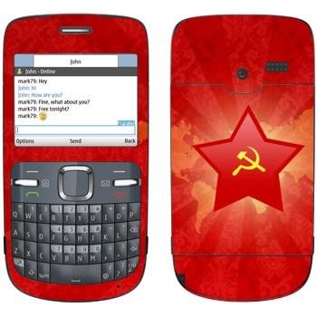 Виниловая наклейка «Звезда с серпом и молотом» на телефон Nokia C3-00